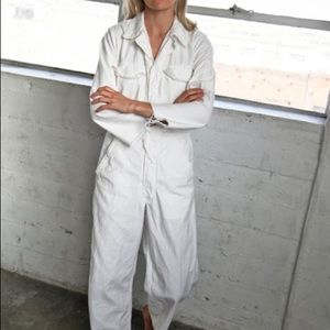Vintage White Coveralls Workwear Boiler suit